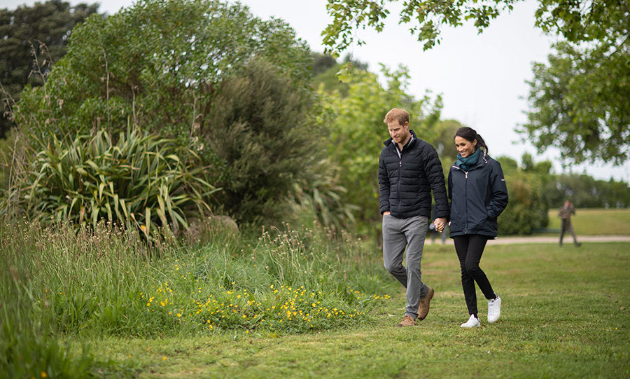 Prince Harry and Meghan held hands as they toured the small but beautiful national park, which sits at the north-Eastern tip of the South Island. The two were touring some of the conservation initiatives managed by the Department of Conservation.