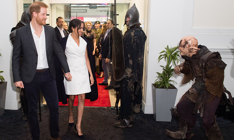 "The couple met all sorts of characters, from knights to an orc from Lord of the Rings, as well as makeup artists and costume experts, many with Hollywood experience. Attendee Carleen Murphy revealed that they had expected the duchess to talk about her past as an actress but she opted not to steal the spotlight. ""She was so gracious and let others shine. She's even more beautiful than she is on screen. More lovely. An absolute beauty.""