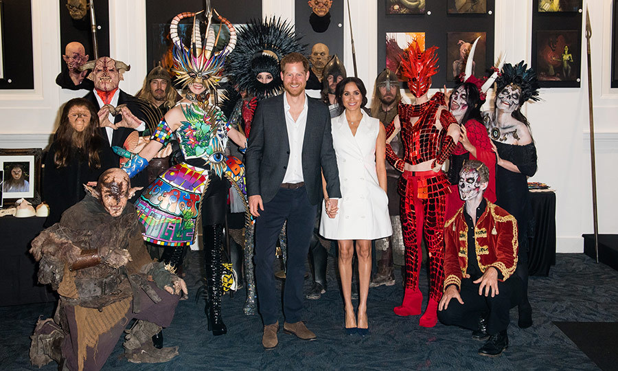The couple posed for an amazing group shot with local creatives clad in spectacular costumes.