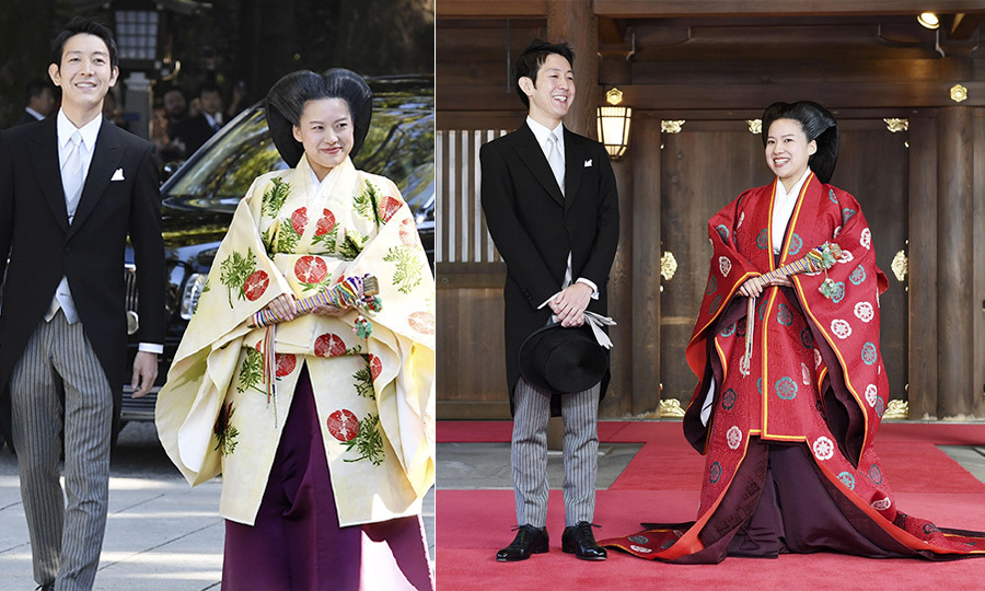 On Oct. 29, Princess Ayako gave up her royal title and place in the line of succession to follow her heart and marry non-royal Kei Moriya. The 28-year-old princess and her 32-year-old beau were wed in a traditional religious Shinto ceremony, followed by a prayer offering ritual at Meiji Shrine in Tokyo. The bride is the daughter of the late Prince Takamodo, cousin to Emperor Akihito, and Princess Hisako.