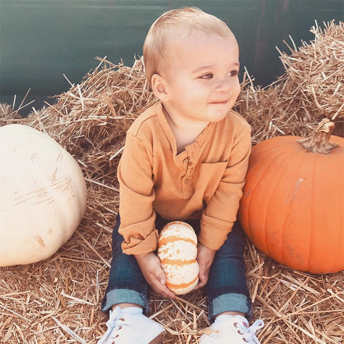 "It doesn't get much cuter than Lauren Conrad's cute-as-a-button son, one-year-old Liam! ""Where did the last year go?! This little pumpkin is growing up so fast,"" she wrote.