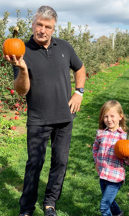 "Alec Baldwin and his daughter, five-year-old Carmen, looked adorable posing together! ""Professional pumpkin pickers,"" his wife, Hilaria, wrote on Instagram.