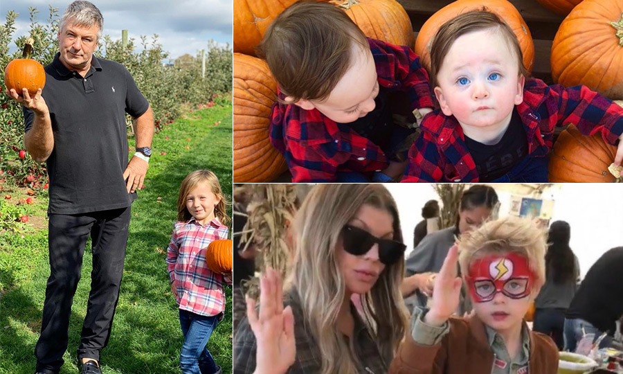 It's that time of year again! Halloween is just a couple sleeps away, and the stars and their kids are out to play. From Alec Baldwin to Fergie to Canada's own Jessi Cruickshank, celebrities are making sure to take their kids on the pumpkin hunt – and they're getting the best Kodak moments, too!