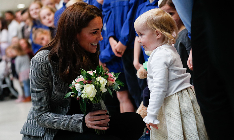 Duchess Kate delighted in meeting tiny fan!