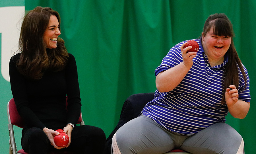 Kate's Boccia teammate also got the giggles!