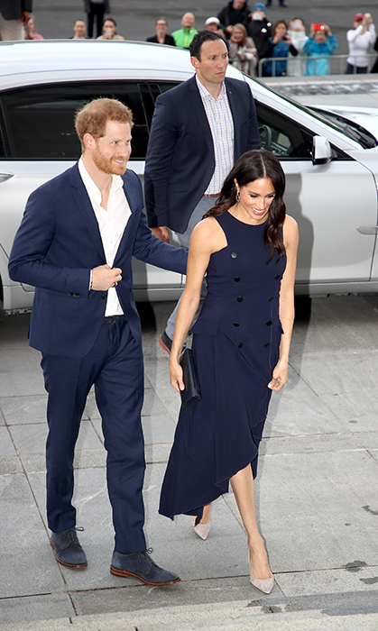 On the second last day of their overseas royal tour, Prince Harry and Meghan arrived at the Auckland War Memorial Museum for a reception hosted by Prime Minister Jacinda Ardern.
