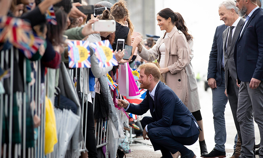 Earlier that day, Meghan and Harry enjoyed greeting their well-wishers during a public walk along Auckland's Viaduct Harbour. They stepped out to visit Pillars, a New Zealand charity that supports children of incarcerated parents.