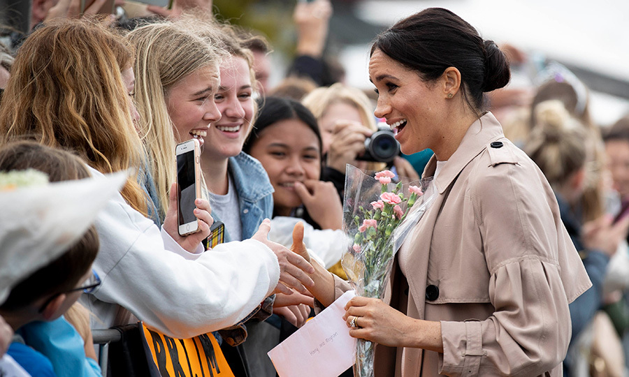 This group of girls were mighty excited to be meeting the duchess!