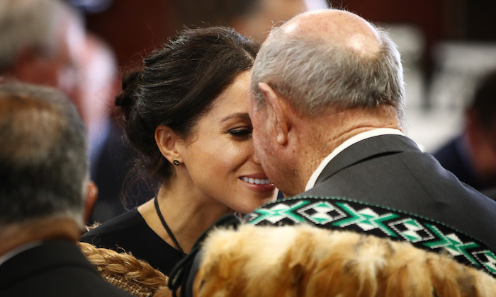 Meghan enjoyed a traditional hongi greeting, which she has surely perfected by now!