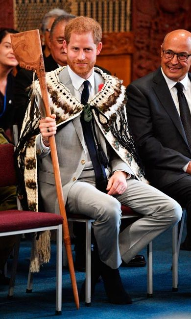 "The duke was gifted a tewhatewha, a Maori weapon with an axe on one end and a point on the other. ""I am sure you are going to Twickenham when the All Blacks play England on November 11 - make sure you don't take that,"" joked local district council member Trevor Maxwell.