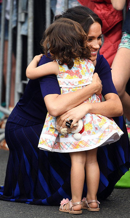 There were more than a few adorable Kodak moments during their 16-day trip, but this hug in Rotorua was a favourite!