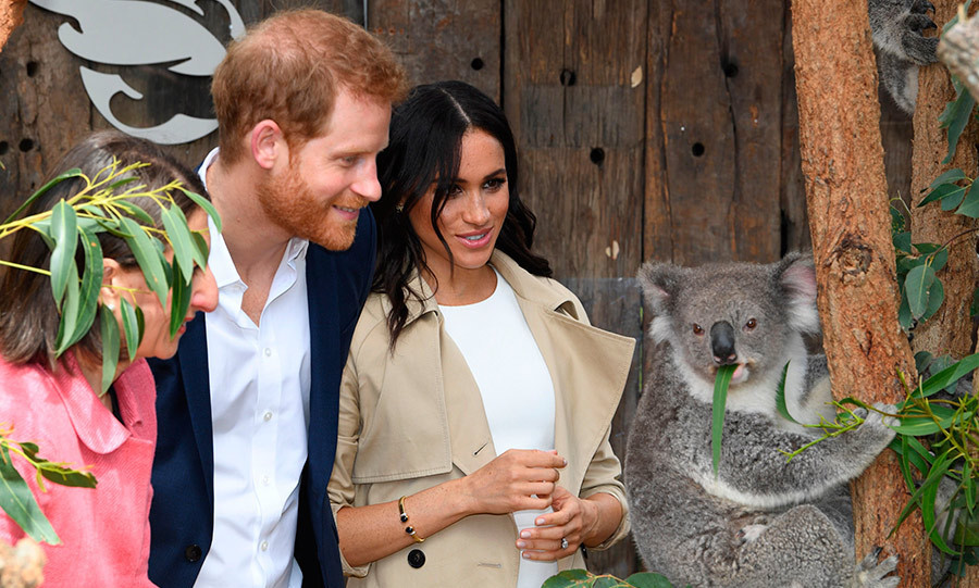 On day one, the couple got to meet one of  Australia's most famous inhabitants: a koala bear! They were visiting the famous Taronga Zoo, where Prince George has a bilby named in his honour. 