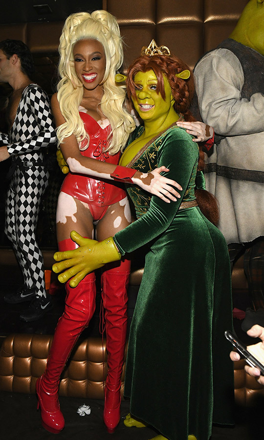 Winnie Harlow and Heidi Klum