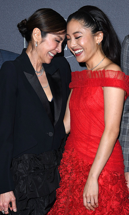 <em>Crazy Rich Asians</em> costars Michelle Yeoh and Constance Wu were all smiles at the Hollywood Film Awards on Nov. 4 at the Beverly Hilton Hotel, where the groundbreaking film was honoured with the Breakout Ensemble award!