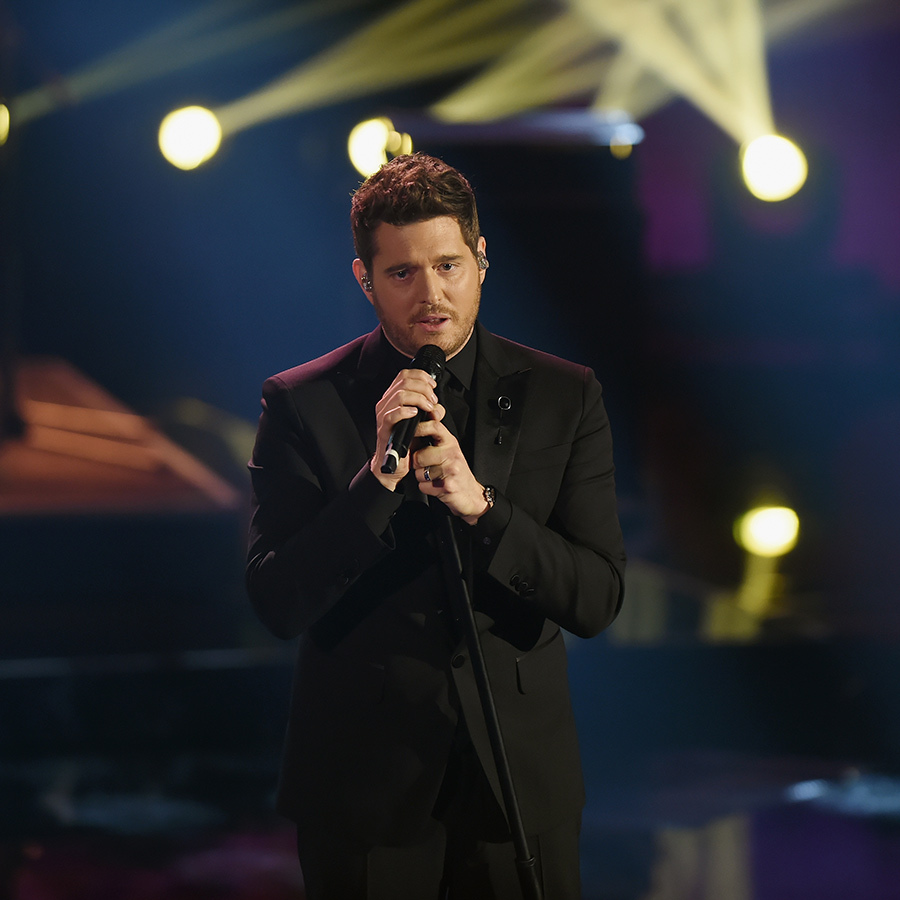 Michael Buble took the stage at Che Tempo Che Fa Tv Show in Milan on Nov. 4.