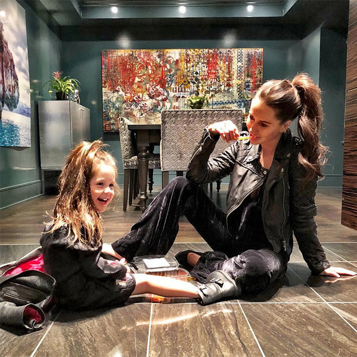 Ivy's got a bit of her mom's edgy style! Jessica wrote: 