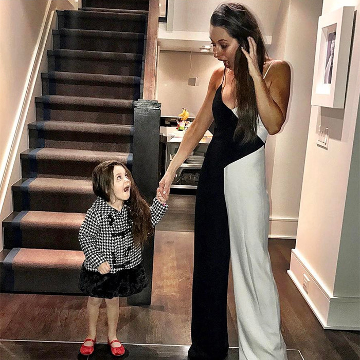 """Wait... you're in black and white too?"" Jessica wrote on Instagram. We have a feeling these two don't mind matching, though!