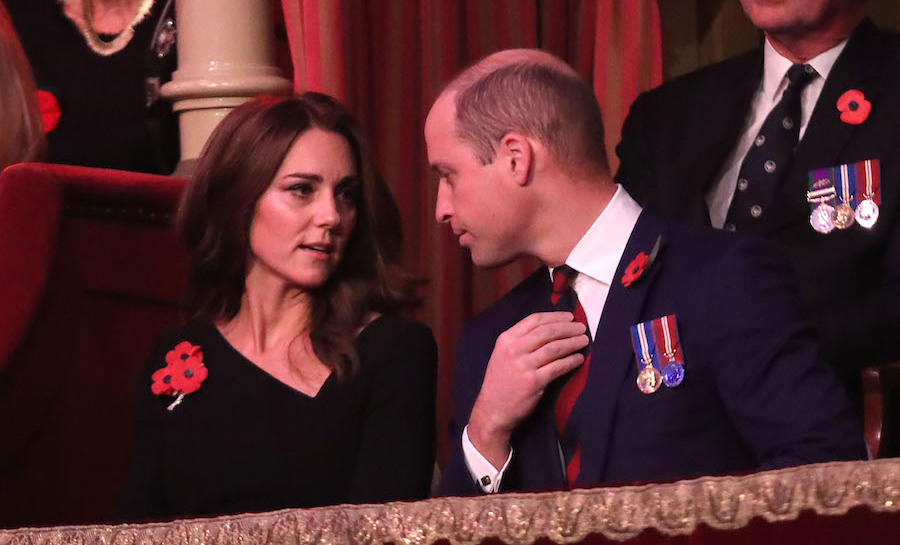 Duchess Kate and Prince William chatted before the service began.