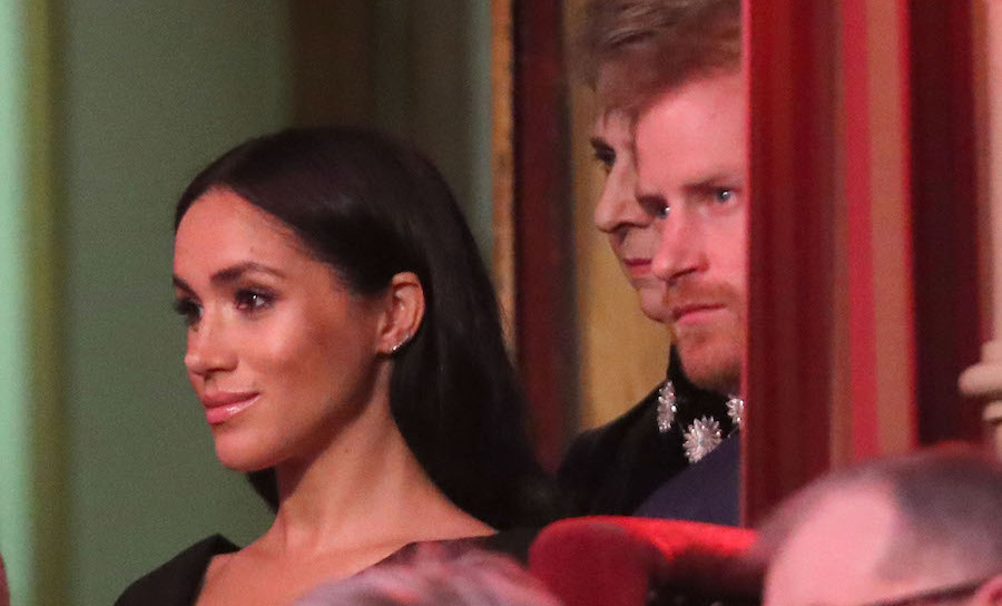 The Duke and Duchess of Sussex watched the service intently.