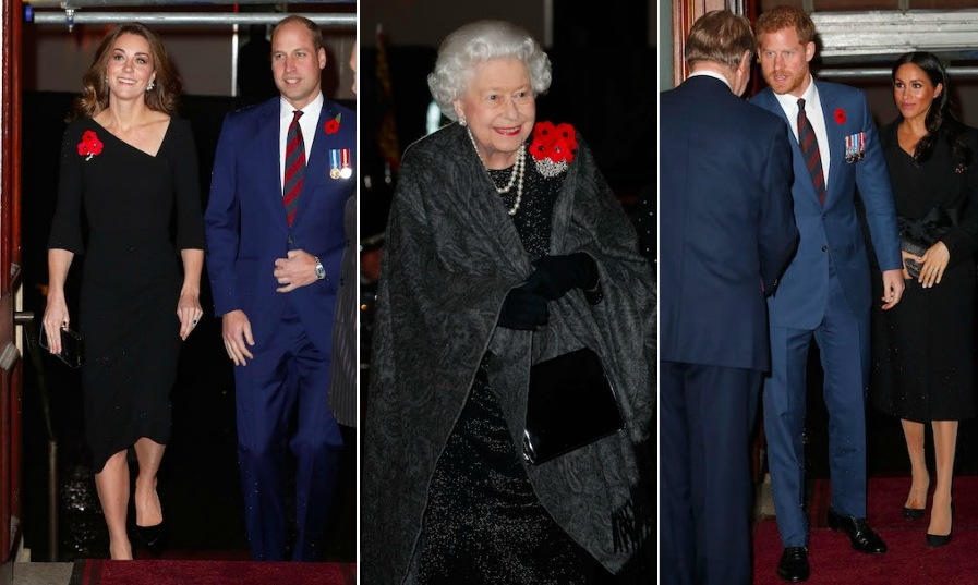 "The 'Fab Four' reunited to attend the Festival of Remembrance service on Nov. 10, the first of three events they'll attend together this weekend. Hot on the heels of their 16-day tour Down Under and the announcement of their exciting baby news, parents-to-be <a href=""https://ca.hellomagazine.com/tags/0/prince-harry-and-meghan/""><strong>Prince Harry and Meghan</strong></a> joined <a href=""https://ca.hellomagazine.com/tags/0/prince-william-and-kate/""><strong>Prince William and Kate</strong></a> at the Royal Albert Hall to pay tribute to fallen soldiers. The quad was joined by other members of the Royal Family, like <a href=""https://ca.hellomagazine.com/tags/0/queen-elizabeth-ii/""><strong>the Queen</strong></a>, the <a href=""https://ca.hellomagazine.com/tags/0/sophie-wessex/""><strong>Countess of Wessex</strong></a>, <a href=""https://ca.hellomagazine.com/tags/0/princess-anne/""><strong>Princess Anne</strong></a>, and <a href=""https://ca.hellomagazine.com/tags/0/prince-charles/""><strong>Prince Charles</strong> and <a href=""https://ca.hellomagazine.com/tags/0/duchess-of-cornwall/""><strong>Camilla</strong></a>.