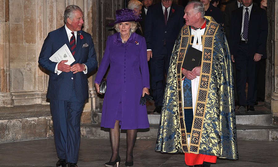 Prince Charles and Camilla chatted with the reverend after the service. 
