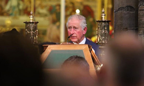 Prince Charles read St. John 15: 9-15. 