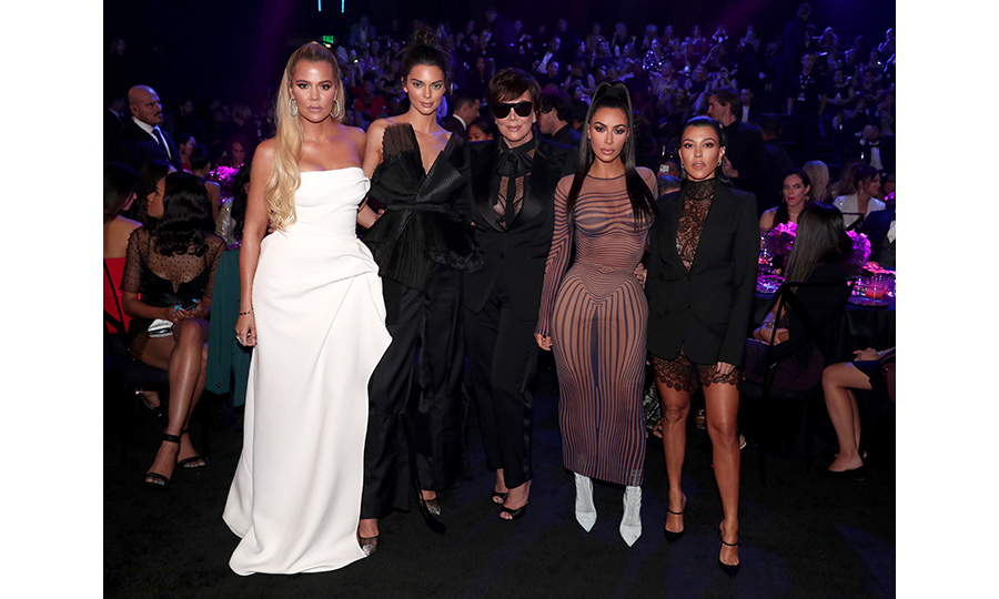Khloe Kardashian, Kendall Jenner in Ronald Van Der Kemp Couture, Kris Jenner, Kim Kardashian in vintage Jean Paul Gaultier and Kourtney Kardashian in Vera Wang