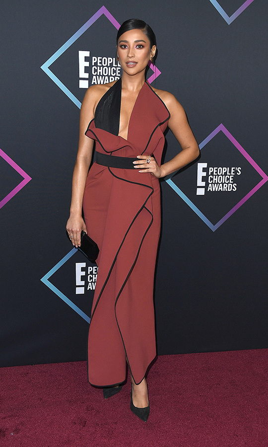 Shay Mitchell in Toni Maticevski