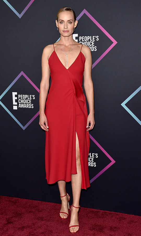 Amber Valletta in Victoria Beckham