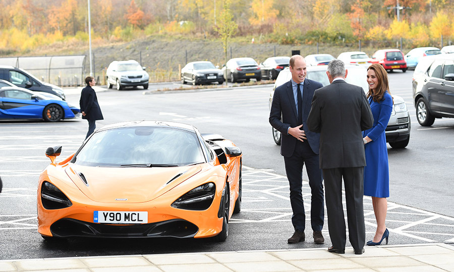 The McLaren sports car matched the fall foliage in the background!