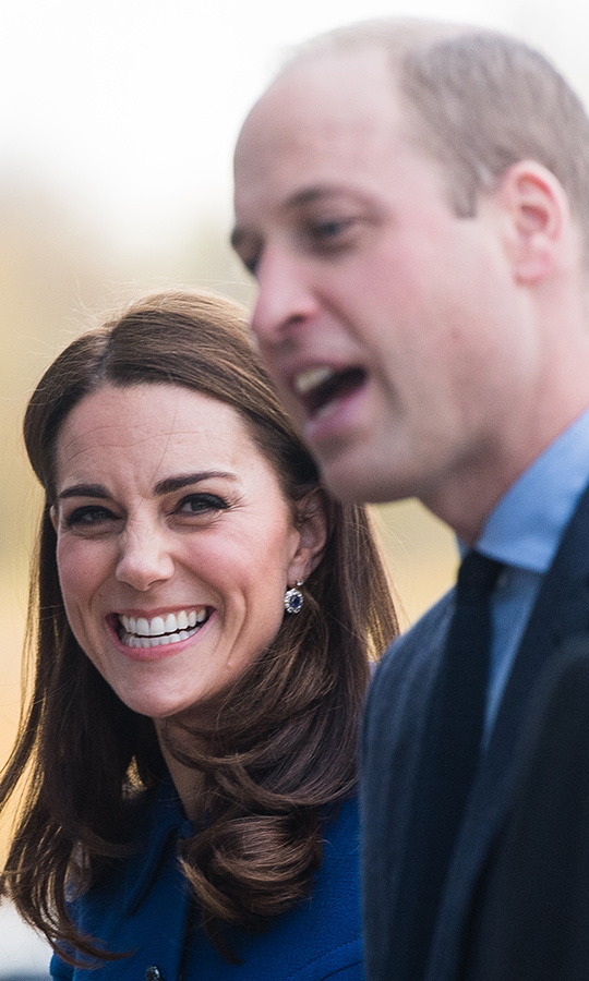 Prince William gave Kate the giggles.