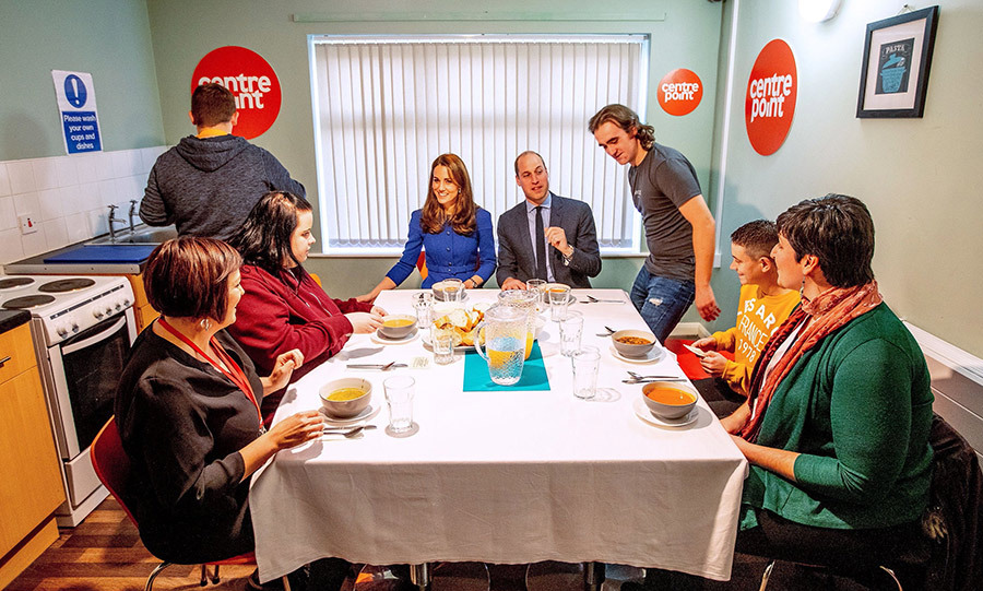 The Cambridges sat down for lunch with residents to learn more about their experience with Centrepoint.
