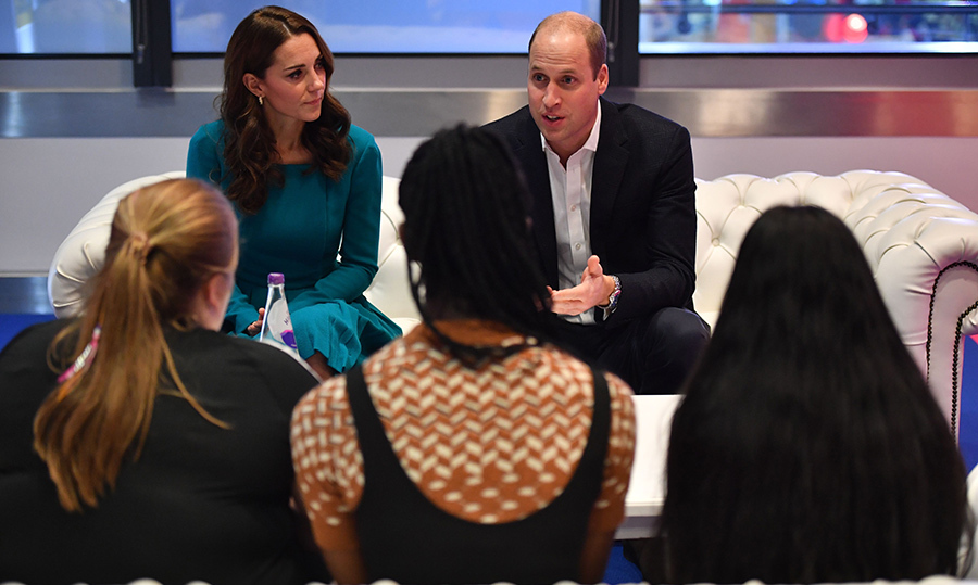 The parents of Prince George, Princess Charlotte and Prince Louis were deep in conversation with a few of the kids spearheading the initiative during anti-bullying week in the UK.