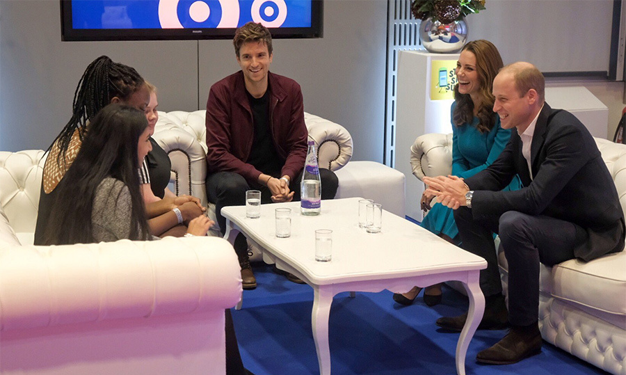 Prince William and Kate met with young people who wrote and performed in a new campaign video for #StopSpeakSupport, a youth-led code of conduct to provide guidance on what to do when they witness bullying online.
