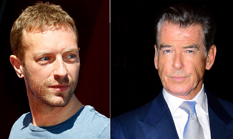 <h2>Chris Martin and Pierce Brosnan</h2>