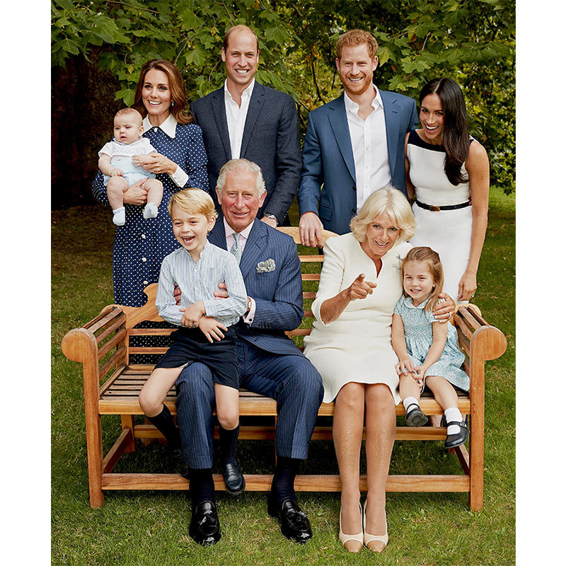 "Chris was over the moon to shoot the Royal Family on Sept. 5 to celebrate the future king's milestone birthday - and some of the most candid shots ever taken of the group! ""It was particularly special to capture such an informal and relaxed family portrait over a fun afternoon in the gardens of Clarence House."" 