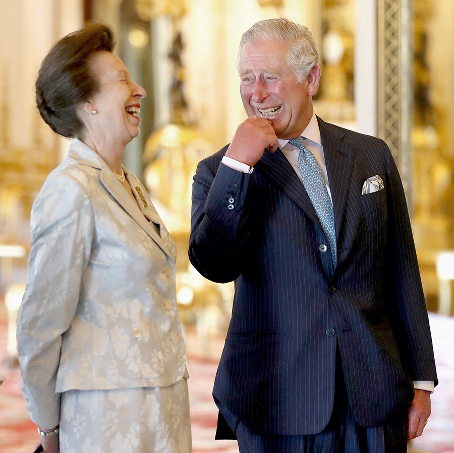 "Prince Charles had a laugh with his younger sister <a href=""/tags/0/princess-anne/"">Princess Anne</a> at Buckingham Palace in April 2018, while waiting to enter the Commonwealth Heads of Government Meeting. A sweet video of this moment shows <a href=""https://ca.hellomagazine.com/royalty/02018110948520/prince-charles-prank-princess-anne-video"">Prince Charles pranking his sibling</a> by sneaking up on her from behind. Even future kings can be jokesters!