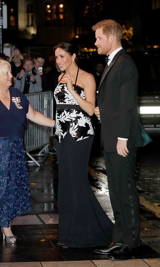 "Fans were out in full force as <a href=""/tags/0/prince-harry/"">Prince Harry</a> and <a href=""/tags/0/meghan-markle/"">Meghan</a> made their debut as a couple at the annual <a href=""/tags/0/royal-variety-performance/"">Royal Variety Performance</a> at the London Palladium - marking the mom-to-be's first outing to the star-studded extravaganza. The couple met performers from Take That and <em>Hamilton</em> before taking their seats to mark their six-month anniversary in style! 