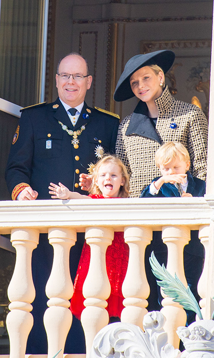 Hello! Adorable Princess Gabriella waved excitedly at the well-wishers down below.
