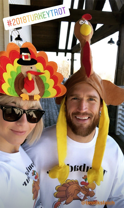 Julianne Hough had a turkey of a time running for a good cause! The professional dancer put on her sneakers, colourful socks and festive hat for the annual 5k Turkey Trot run for charity alongside her Canadian husband, Brooks Laich.