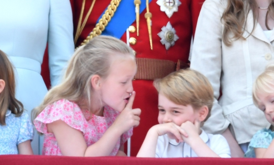 Prince George had a blast with his older cousin during this year's Trooping the Colour ceremony in June! He and Savannah Philips goofed around on the Buckingham Palace balcony.
