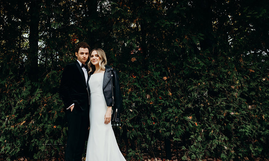 The two made the chicest bride and groom!