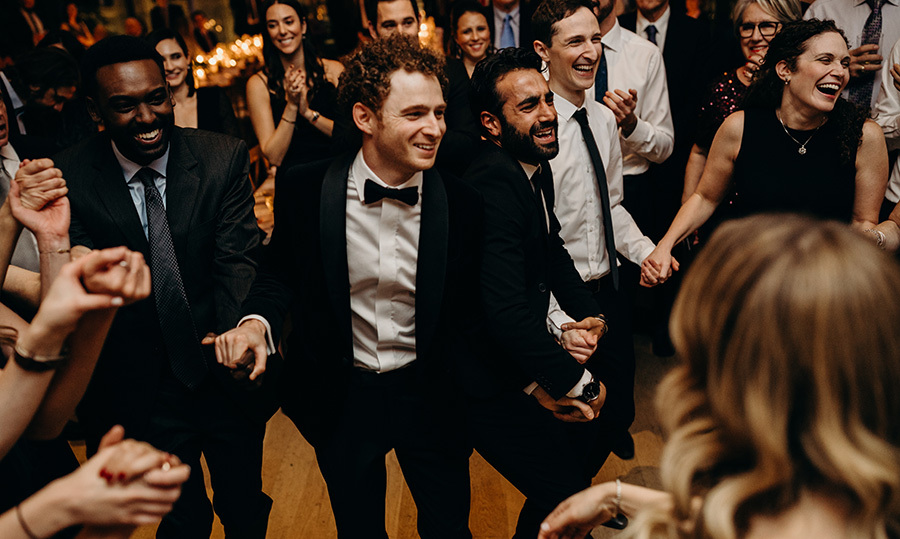 "The couple and their loved ones danced the night away! ""My suit was definitely a big deal, especially to Lauren because she wanted the same look as what Prince Harry wore at his wedding,"" Jonathan shared. 