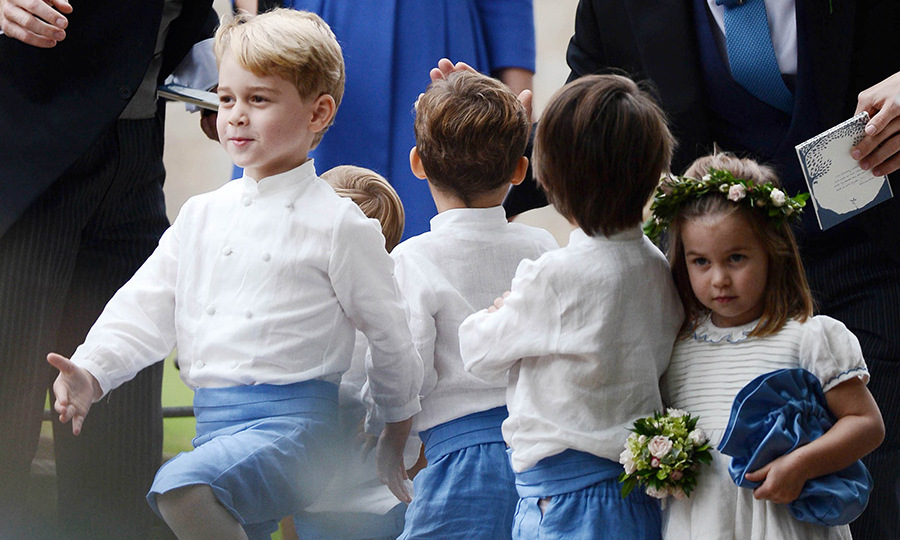 It's no wonder Prince George was so confident! He and Princess Charlotte had already marched in the most highly anticipated royal wedding of the year for uncle Prince Harry and auntie Meghan. 