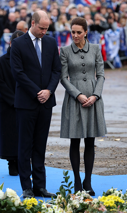 The Duke and Duchess of Cambridge made a somber visit to the home of Leicester City football team to pay respects to the group of five people who tragically lost their lives in a helicopter crash in October. One of the victims and over of Leicester City, Vichai Srivaddhanaprabh, was a valued member of the community and a dear friend to the royal duo.
