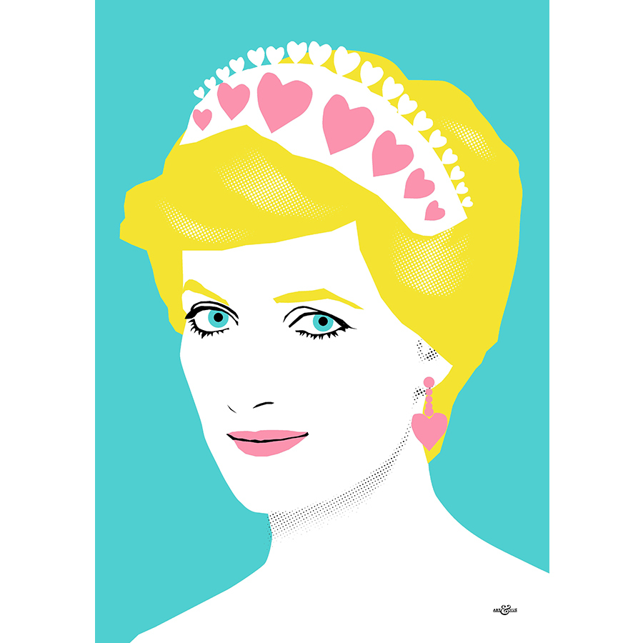 An art lover who also has a soft spot for Princess Diana? This handmade print is a no-brainer! 