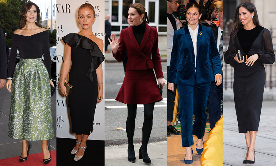 "From velvets to metallics, <a href=""/tags/0/royal-style/"">royal women</a> wear some of the most luxe fabrics throughout the year, which makes for ample holiday party inspiration come December! We've rounded up the most festive looks from stylish royals like <a href=""/tags/0/crown-princess-mary/"">Crown Princess Mary</a>, <a href=""/tags/0/amelia-windsor/"">Lady Amelia Windsor</a>, <a href=""/tags/0/kate-middleton/"">Duchess Kate</a>, <a href=""/tags/0/crown-princess-victoria/"">Crown Princess Victoria</a> and <a href=""/tags/0/meghan-markle/"">Duchess Meghan</a>, and we've got something for everyone. From suits to evening gowns and everything in between, standout accessories and must-try hairstyles, <strong>click through to see them all...</strong>"