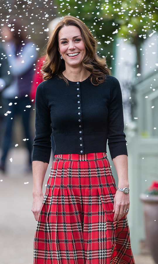 The duchess was walking in a winter wonderland! 