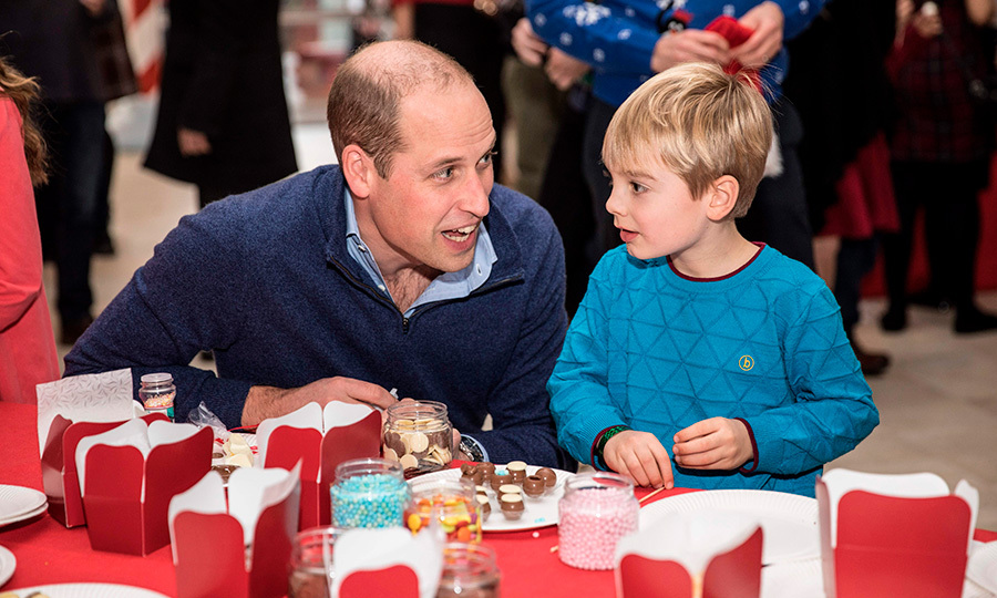 Prince William and Henry enjoyed making some fun Christmas crafts together.