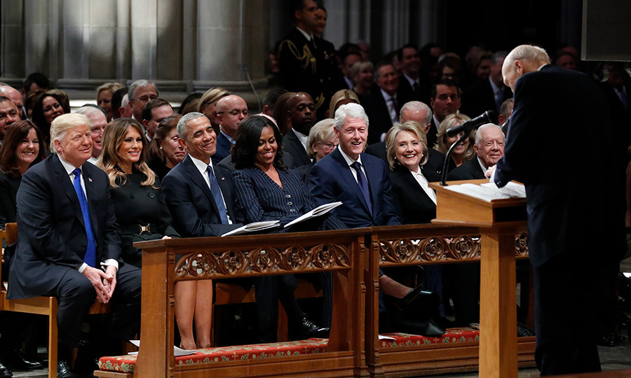 The faces of American politics gathered on Dec. 5 to honour the life of former President of the United States, George H. W. Bush at the Washington National Cathedral.